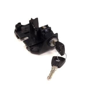 Wymienny zamek do baterii Bosch PowerPack umiejscowioną na bagażniku Standard. rower elektryczny electroon.pl